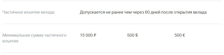 Тинькофф банк снятия